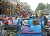 Rickshaw ride at Jaipur market